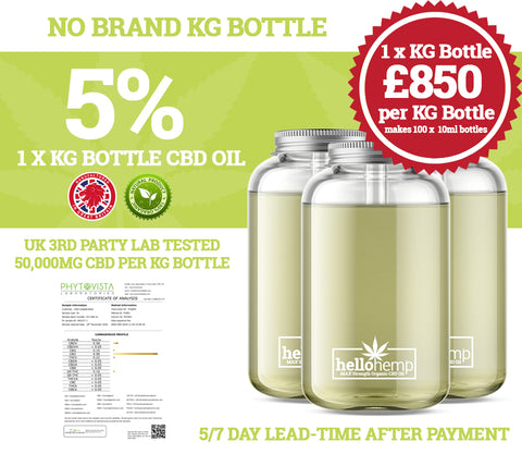 Wholesale CBD Oil - KG Bottles