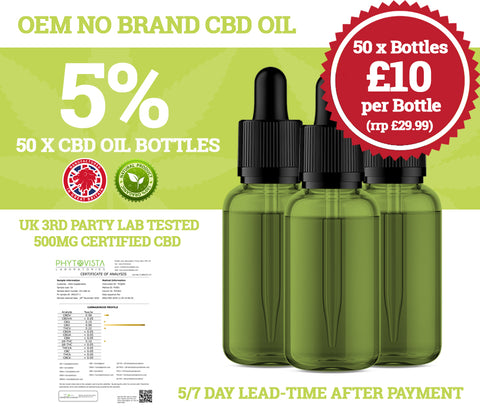 Wholesale CBD Oil - 50 x 10ml Bottles