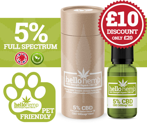 DOG & CAT CBD Oil - 5% 500mg