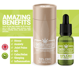 Hello Hemp CBD Oil 10% 1000mg Amazing Benefits