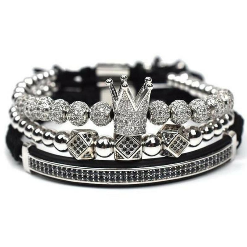 "Luxury Men's ""Crown"" Bracelet"