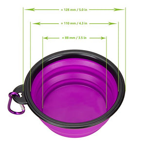 Collapsible Silicone Bowls, Set of 2