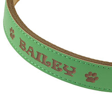 Personalised Soft Leather Dog Collar - XS, Small, Medium or Large