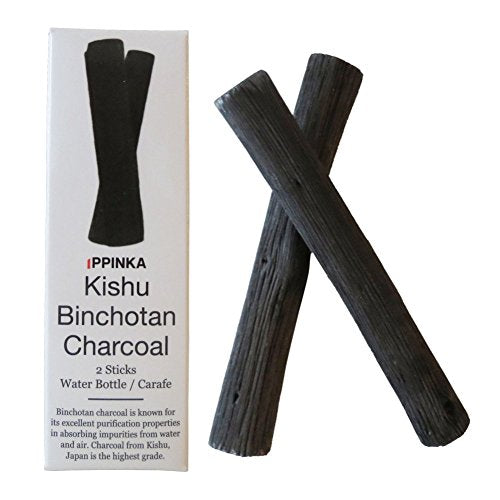 Charcoal Water Purifying Sticks, Set of 2, Fits Water Bottles
