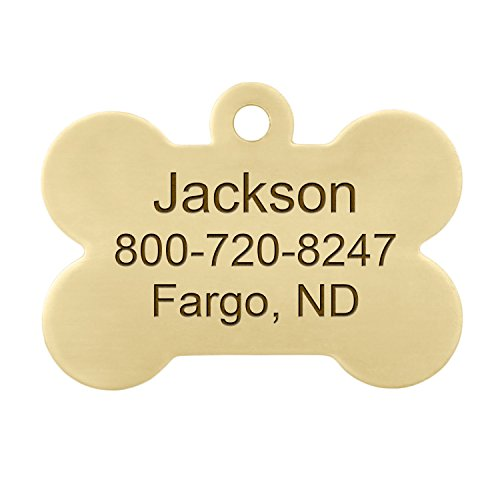 Personalised Brass Bone Dog ID Tag