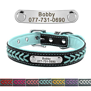 Custom Braided Leather Dog Collars