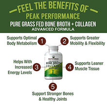 Grass Fed Beef Bone Broth & Collagen Capsules (180 capsules)