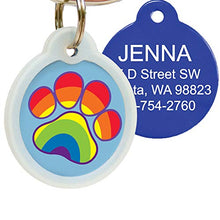 Cute Personalised Pet ID Tags with Glow in The Dark Noise Silencer