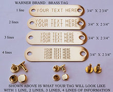 Flat Brass Dog Tags Personalised