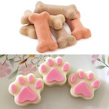Silicone Ice Tray Molds (Paw and Bone Shapes), 3 Pack