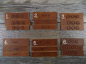 Handmade Personalised Leather Dog Collar