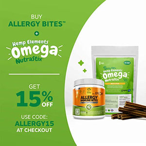 Allergy Bites for Itchy Dogs, 90 Chews, Money-Back Guarantee