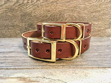 Handmade Personalised Leather Dog Collar with FREE Engraved Brass Name Plate
