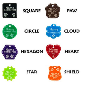 Acrylic Dog Tags Personalised