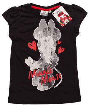 Minnie Maus T-Shirt - Schwarz - Wonderland World