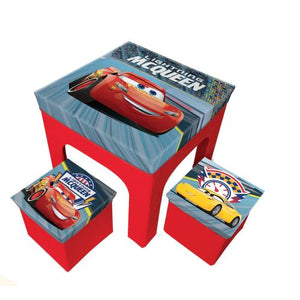 Cars Sitzgruppe Tisch + 2 Hocker - Wonderland World