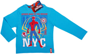 Spiderman langarm Shirt - Blau - Wonderland World