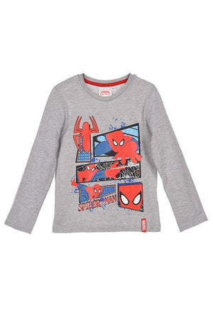 Spiderman langarm Shirt - Grau - Wonderland World