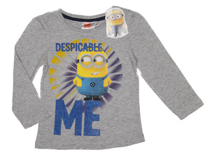 Minions langarm Shirt - Grau - Wonderland World
