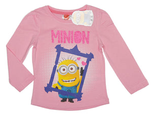 Minions langarm Shirt - Rosa - Wonderland World