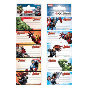 Avengers Buchaufkleber 10er-Set - Wonderland World