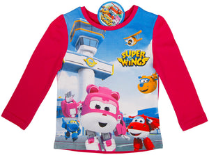 Super Wings langarm Shirt - Pink - Wonderland World