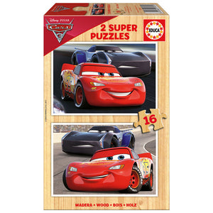 Disney Cars Holz Puzzle - 2 x 16 Teile - Wonderland World