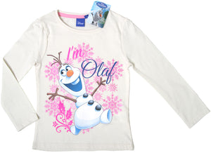 Disney Frozen Olaf langarm Shirt - Weiß - Wonderland World