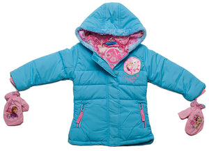Disney Frozen Winterjacke mit Handschuhen - Blau - Wonderland World