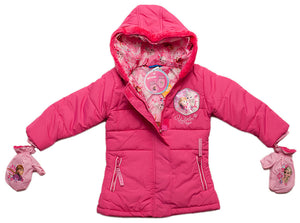 Disney Frozen Winterjacke mit Handschuhen - Rosa - Wonderland World