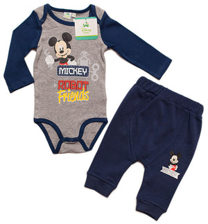 Mickey Maus Baby Set - Body + Hose - Blau - Wonderland World