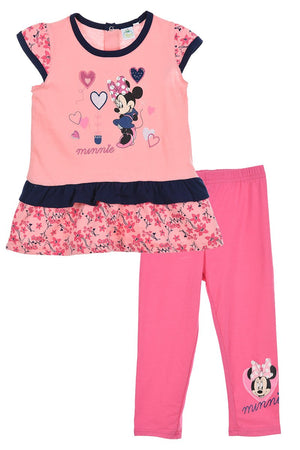 Minnie Maus Baby Set - T-Shirt + Leggings Rosa - Wonderland World