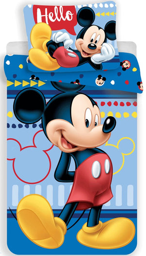 Disney Mickey Maus Bettwäsche - 140 x 200 cm - Wonderland World