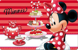 Minnie Maus 3D Platzdecke - rot - Wonderland World
