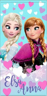 Disney Frozen Elsa & Anna Badetuch - Blau - Wonderland World