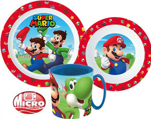 Super Mario Micro Geschirrset - Plastik - Wonderland World