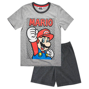 Super Mario Shorty Pyjama - Grau