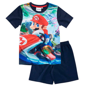 Super Mario Shorty Pyjama - Dunkelblau
