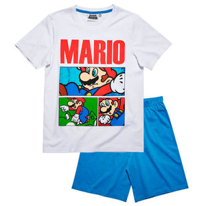 Super Mario Shorty Pyjama - Weiß