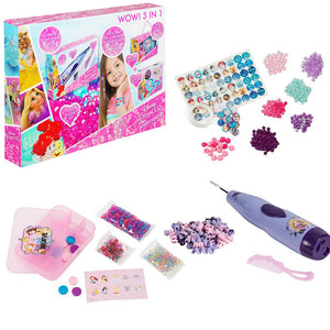 Disney Princess Hair Beader Set 3in1 - Wonderland World