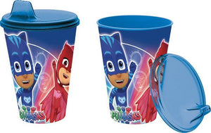 PJ Masks Trinkbecher mit Trinkdeckel - 430ml - Wonderland World