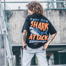 "Load image into Gallery viewer, ""Shark Attack"" T-shirts"