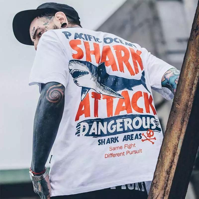 """Shark Attack"" T-shirts yeshark"