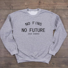 "Load image into Gallery viewer, ""No Fins No Future"" T-Shirt"