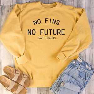 """No Fins No Future"" T-Shirt - yeshark"