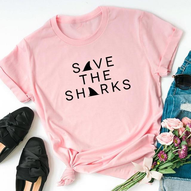 """Save The Sharks"" T-Shirt - yeshark"