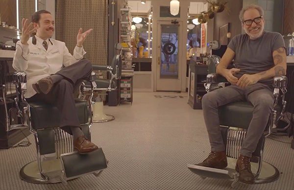 Mike and Frank talking about music and when they first met in the barbershop