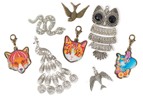 charms, animal pendants