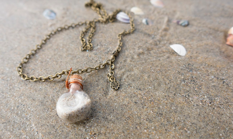 beach, vial, DIY jewelry, summer DIY
