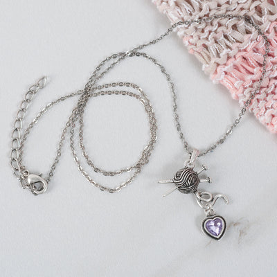 Knitting Lover's necklace